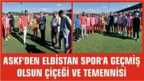 ASKF'den Elbistan Spor'a Geçmiş Olsun Çiçeği